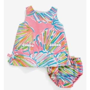NWT Lilly Pulitzer Baby Shift Shellebrate 3-6m 🌴
